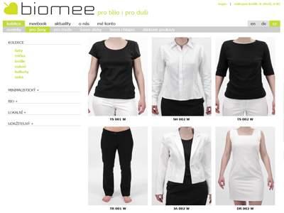 Biomee.cz - etická bio móda